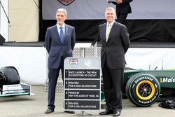 Damon Hill, BRDC President, with HRH Prince Andrew, The Duke of York