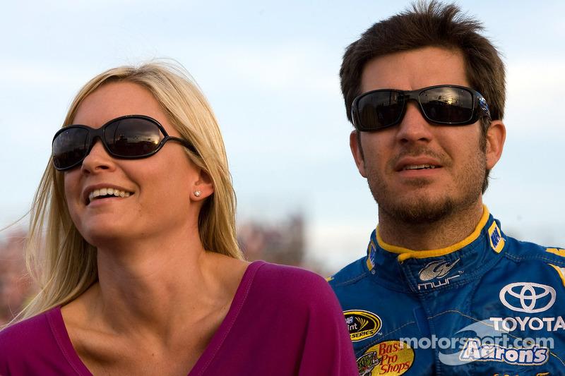 Martin Truex Jr., Michael Waltrip Racing Toyota and girlfriend Sherry Pollex
