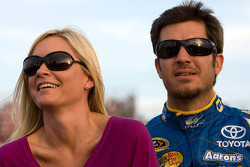 Martin Truex Jr., Michael Waltrip Racing Toyota and girlfriend Sherry Pollex