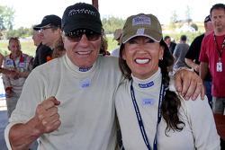 Brian Johnson, chanteur de AC/DC et sa femme Brenda