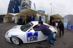 #236 Team DMV Porsche Cayman S at technical inspection