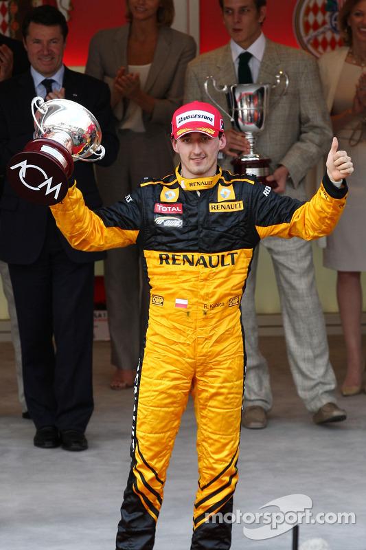 Podium: 3de Robert Kubica, Renault F1 Team
