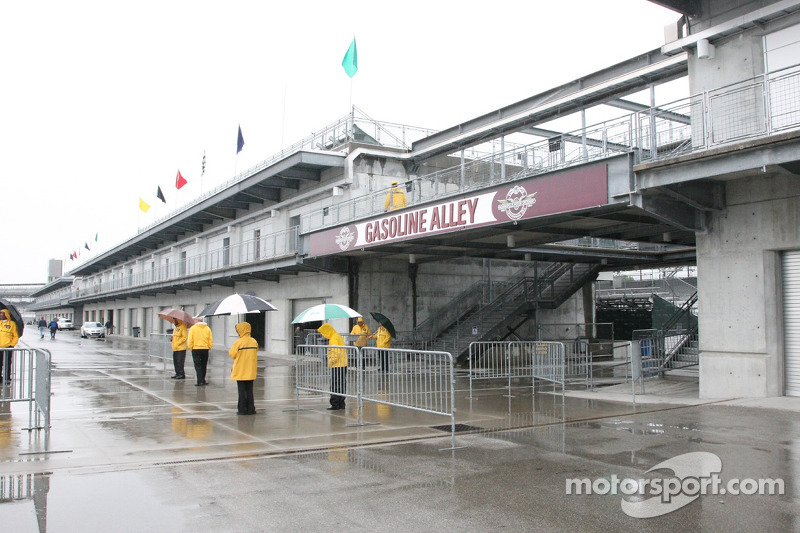 Regen over het circuit