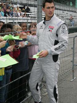 Graham Rahal, Rahal Letterman Racing signs autographs