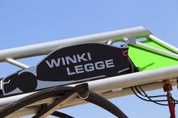 Pit board for Markus Winkelhock, Audi Sport Team Rosberg and Katherine Legge, Audi Sport Team Rosberg