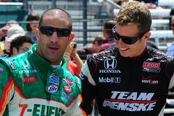 Tony Kanaan, Andretti Autosport and Ryan Briscoe, Team Penske
