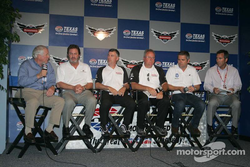 IZOD IndyCar Series New Engine Strategy Team, Bill Looney, Eddie Gossage, Tony Cotman, Brian Barnhart, Gil De Ferran, Randy Bernard