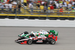 Tony Kanaan, Andretti Autosport and Helio Castroneves, Team Penske