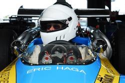 Eric Haga prepares for his qualifying round- 1970 Lola T190 F5000.