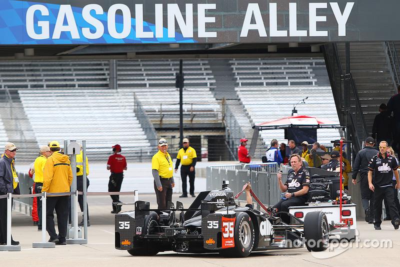 El auto de Alex Tagliani, A.J. Foyt Enterprises Honda