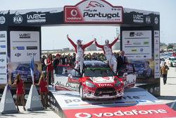 I vincitori Kris Meeke, Paul Nagle, Citroën DS3 WRC, Citroën World Rally Team