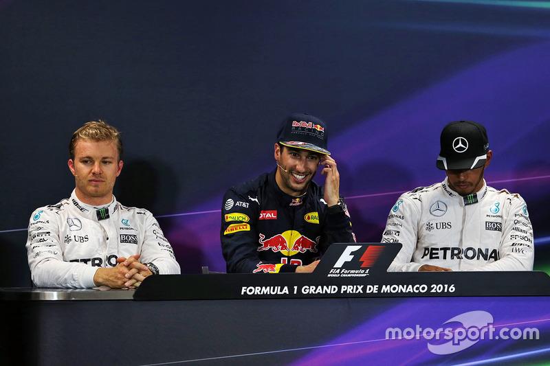Nico Rosberg, Daniel Ricciardo, Lewis Hamilton
