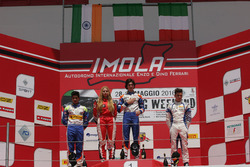 Podyum: Lorenzo Colombo, BVM Racing Kush Maini, BVM Racing,Simone Cunati, Vincenzo Sospiri Racing
