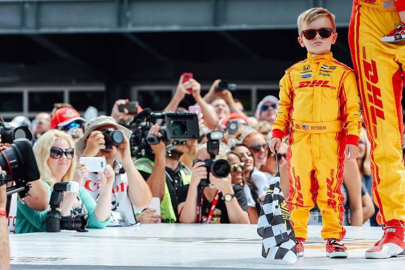 Ryan Hunter-Reay, Andretti Autosport Honda y su hijo Ryden