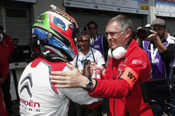 José María López, Citroën World Touring Car Team, Citroën C-Elysée WTCC and Carlos Avaress CEO of PSA Peugeot Citroen group