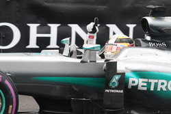 Race winner Lewis Hamilton, Mercedes AMG F1 W07 Hybrid celebrates at the end of the race