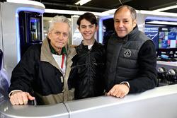 Michael Douglas, mit Sohn Dylan Michael Douglas und Gerhard Berger