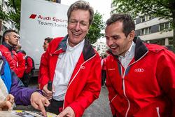 Audi Sport Team Joest Managing Director Ralf Jテシttner dan Benoit Trテゥluyer