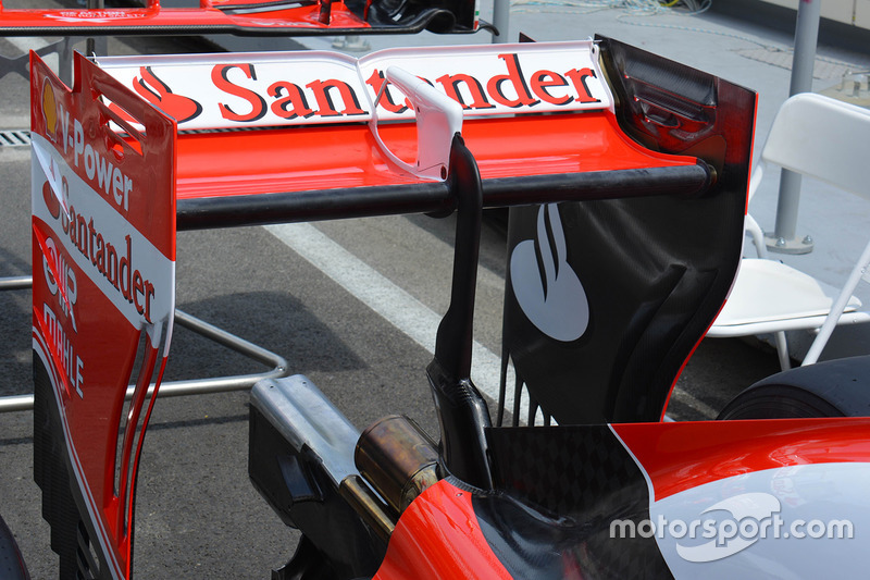 Ferrari rear wing detail