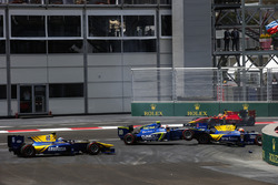 2016 GP2 Series Round 3 Baku, Azerbaijan. Saturday 18 June 2016.Norman Nato, Racing Engineering, Alex Lynn,, DAMS, Marvin Kirchhofer, Carlin & Nicholas Latifi, DAMS
