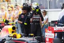 Серхио Перес, Sahara Force India F1 после квалификации в закрытом парке
