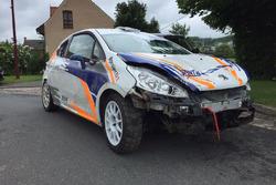 Кейті Маннінгс, Peugeot 208 R2, incidente