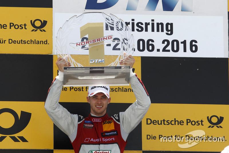 Podio: Ganador de la carrera Edoardo Mortara, Audi Sport Team Abt Sportsline, Audi RS 5 DTM