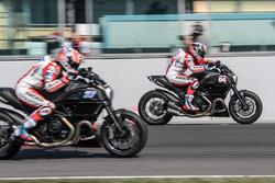 Andrea Dovizioso, Ducati Team and Casey Stoner, Ducati Team