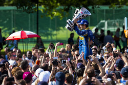 Sebastien Buemi, Renault e.Dams and Nicolas Prost, Renault e.Dams celebrate on the podium