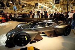 A side view of the AM-RB 001 at the Aston Martin and Red Bull Racing Project AMRB 001 Unveil