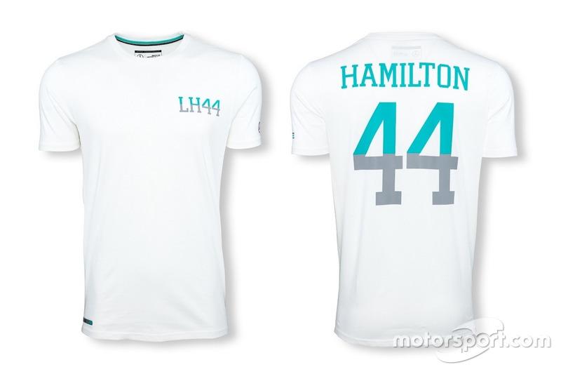 "T-shirt Mercedes AMG Petronas ""44"" Lewis Hamilton blanca"