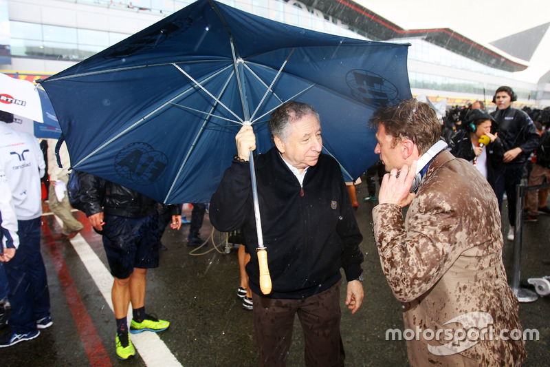Jean Todt, FIA President on the grid with Allan McNish,