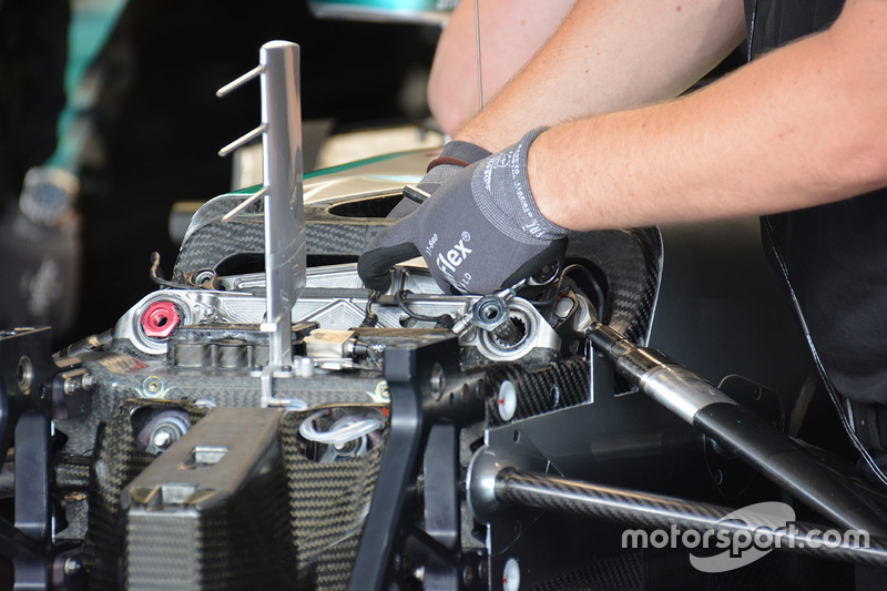 Mercedes AMG F1 W07 Hybrid, dettaglio anteriore