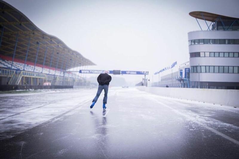 Circuito de Assen nevado. Foto: Assen