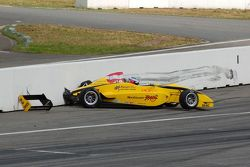 Dominik Bauman hits the wall, ADAC Formel Masters Hockenheimring 2009