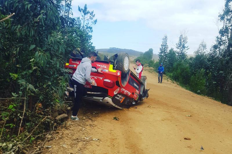 Авария: Стефан Лефевр и Габен Моро, Citroën C3 WRC