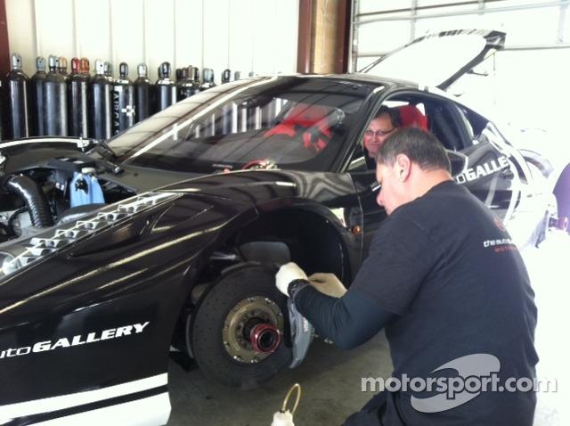 Dave Cortes bleeds the brakes on the Auto Gallery Motorsports Ferrari Challenge 458 Italia GT
