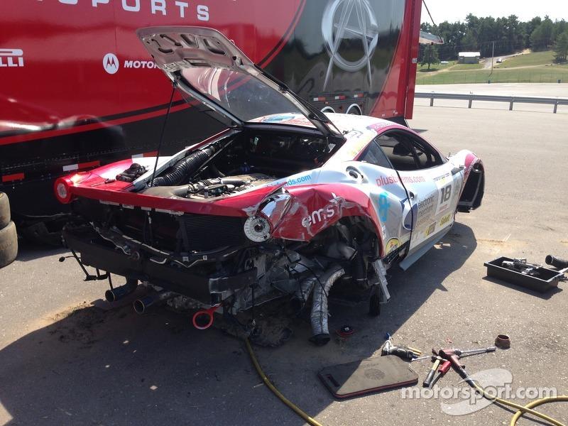 Jim Weiland's Ferrari 458 Italia GT Post Friday Crash