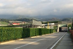 Mugello entrance road