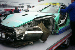 Porsche of Peter Dumbreck after a massive crash