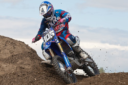 21.	Yamaha rider Jimmy Decotis #105 takes the MX2 2nd place overall
