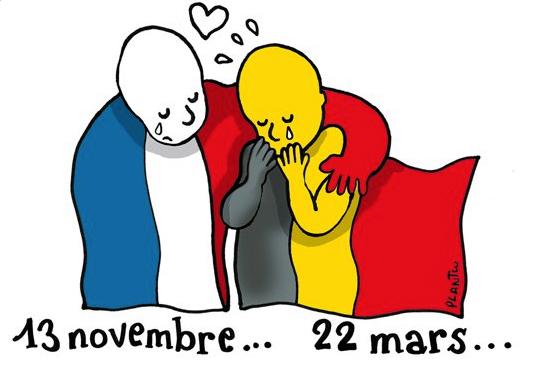 Apoyo sobre actos terroristas en Bélgica