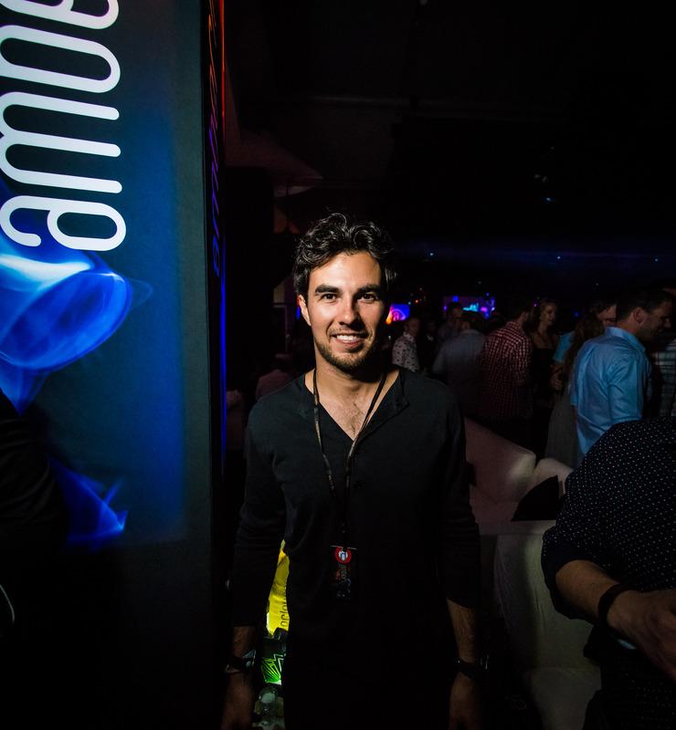 Sergio Pérez en la Amber Lounge de Mónaco