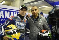 Jorge Lorenzo et Lewis Hamilton