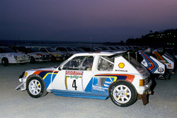 Юха Канккунен и Юха Пииронен, Peugeot 205 turbo 16 E2, Ралли Санремо 1986 года