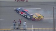 Labonte Hits Wall Hard - Talladega Superspeedway 2011