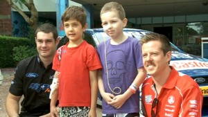 V8 Drivers Bring Smiles at Children's Hospital