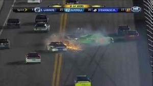 Chain Reaction Crash - Daytona 500 - Daytona - 02/27/2012