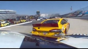 Johnson hits Logano In Final Practice