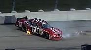 NASCAR Travis Pastrana's rear tire blows | Iowa (2013)